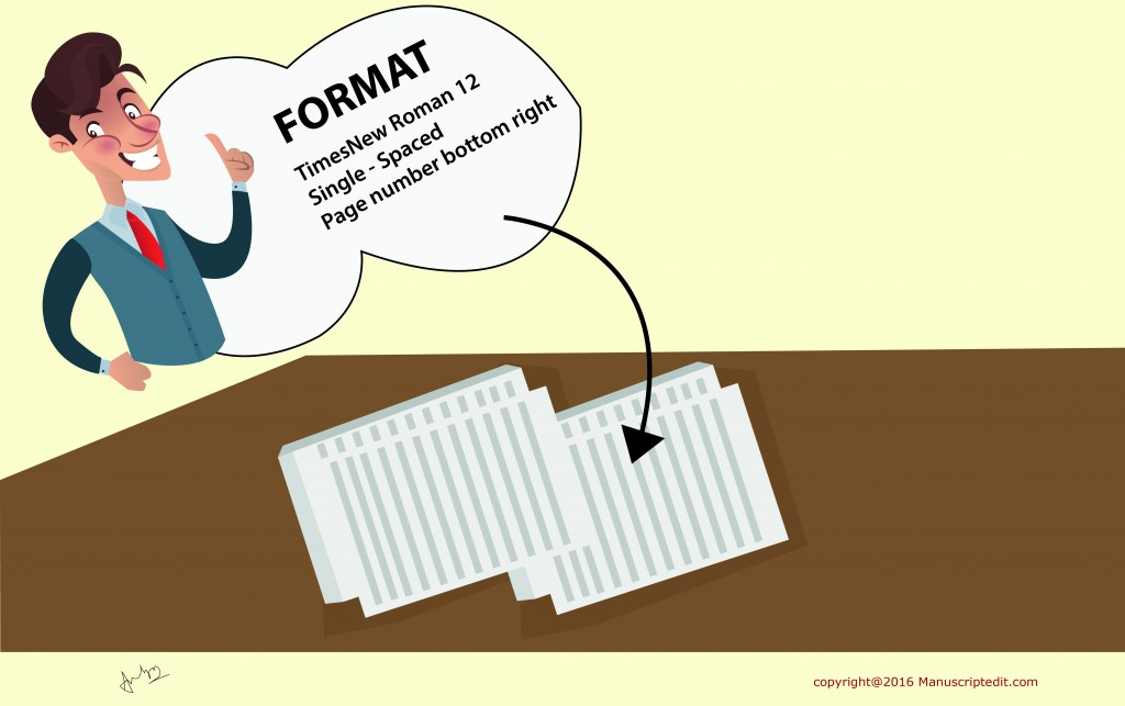 format your manuscript by your own
